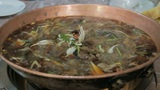 Chinese food. Chafing dish close up 04 Footage