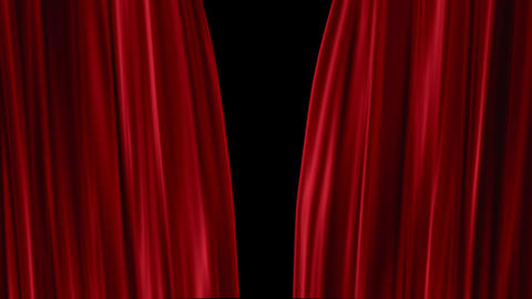 Red Curtains open Stock Video Footage