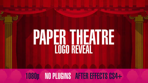 Paper Theatre Logo Reveal After Effects Template