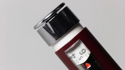 Insulin dose - five Stock Video Footage