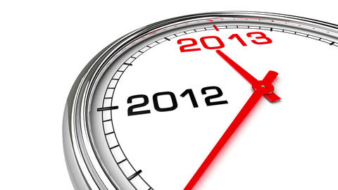 New Year 2013 Clock (with Matte) Stock Video Footage