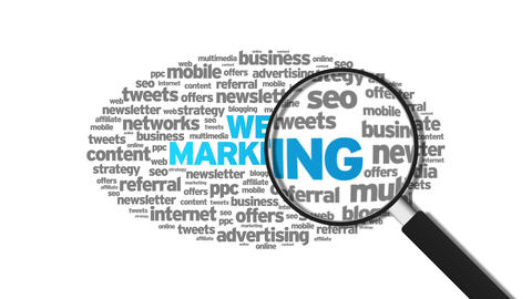 Web Marketing Stock Video Footage