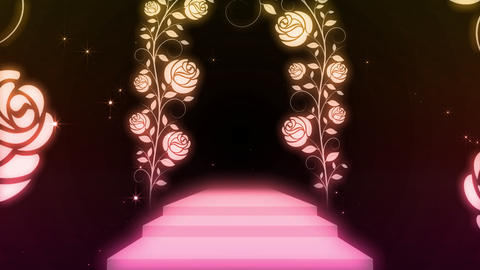 way and stairs of the rose CG動画