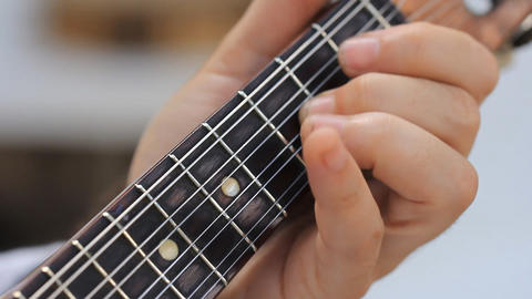 Man playing Acoustic guitar Stock Video Footage