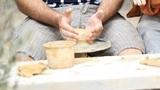 Potter's wheel Clay workshop creative occupation profession ceramics craft pot Footage