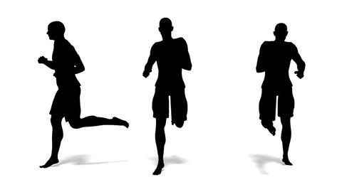 走る男性 Stock Video Footage
