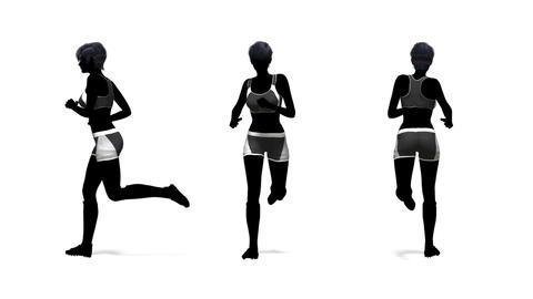 走る女性 Stock Video Footage