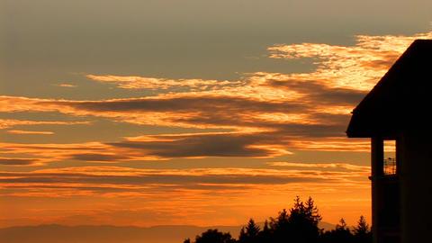 sky sunset lake Stock Video Footage