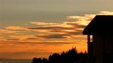 sky sunset lake Footage