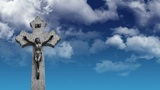 Crucifix stock footage