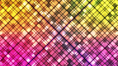 Broadcast Twinkling Cubic Diamonds, Multi Color, Abstract, Loopable, HD Animation
