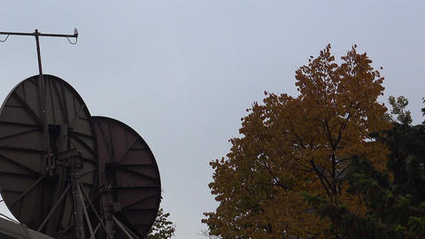 Satellite dishes on the roof Footage