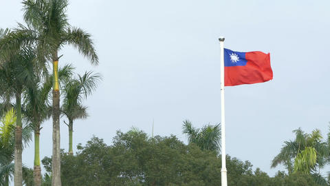 Taiwan flag on windy day 4K Live影片