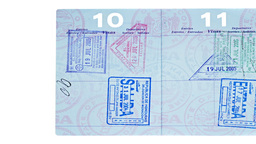 Stamped international passport Footage