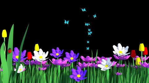 Springtime Flower Garden Image