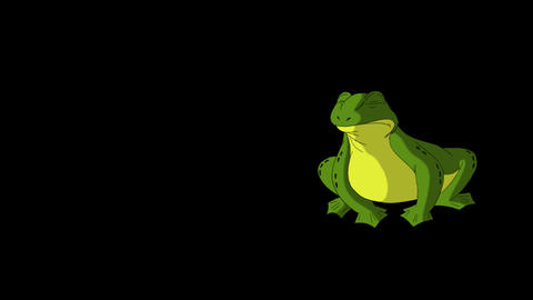 Frog Croaking and Jumping Animation