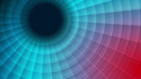 Red and blue technology swirl circle video animation Animation