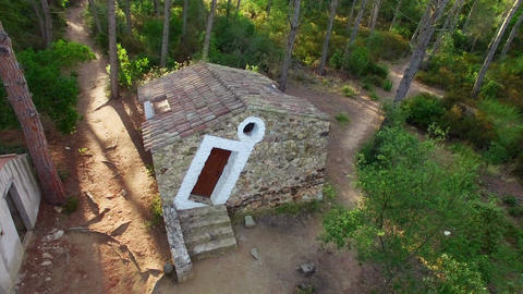 Salvador Dali's Cottage in Palamos Aerial Drone View ビデオ