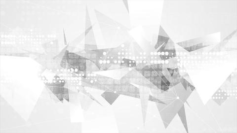Grey technology geometric polygon motion background Animation