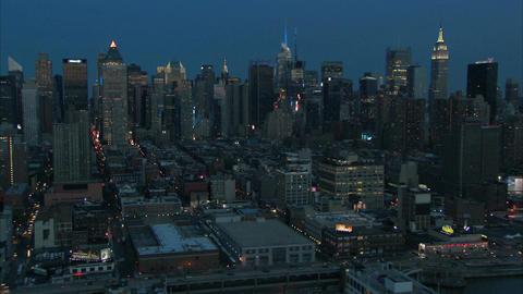 Midtown manhattan nyc at dawn Live Action