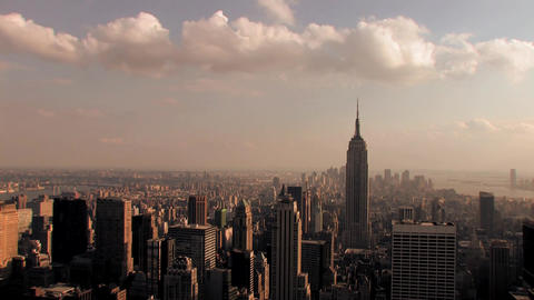 Nyc empire state building view time lapse Live Action