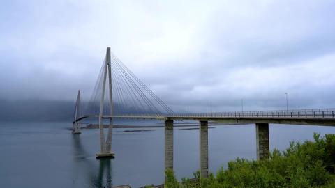 Tjeldsundbrua bridge in norway Footage