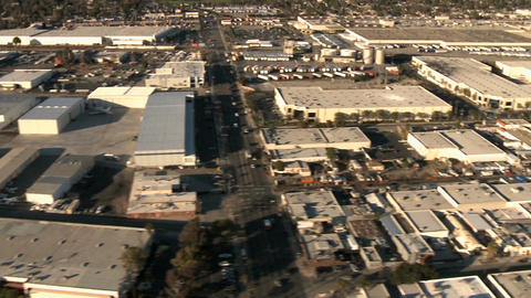Warehouse building aerial Footage
