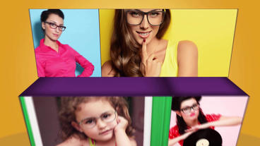 Color Box Slideshow After Effects Template