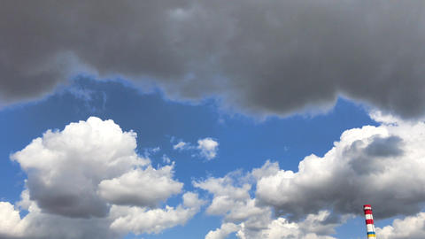 Blue sky with white clouds Footage