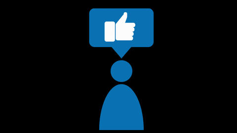 Pictograms for Social Media, Business or Communication Animated Symbols Animation
