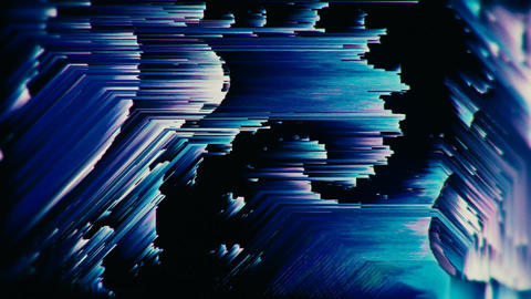 Glitch texturized multicolored twitchy looping background Animación