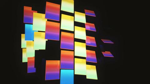 Blinking 3D gradient multicolored bouncing blocks loop Animación