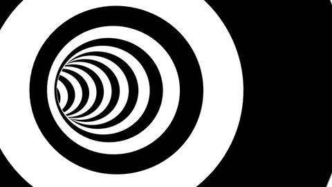 Circle Striped Tunnel Animation