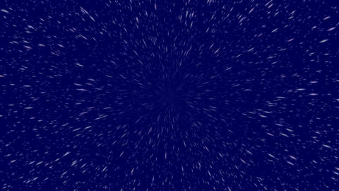 Flying through dark hyper space with stars zooming into camera. This can be cut  CG動画