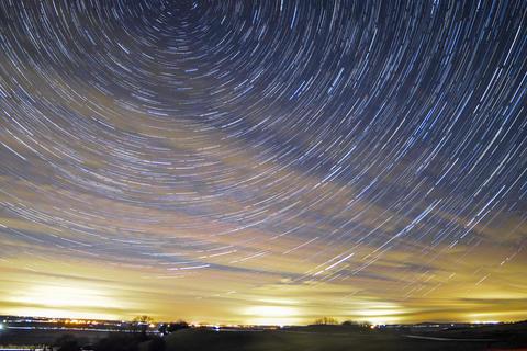 amazzing Star trails Fotografía