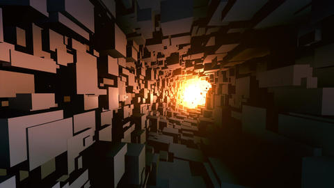 A light in the end of a tunnel Animation