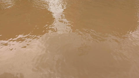 Opaque water in the canal Footage