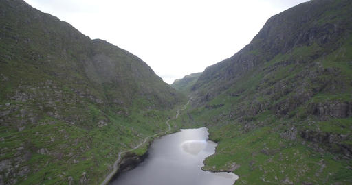 Aerial, Gap Of Dunloe, County Kerry, Ireland - Native Version Footage