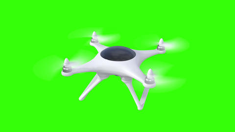 Quadcopter, four seamless looped 3d animations Animation