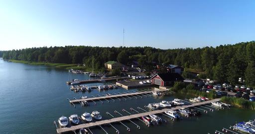 SKALDO, UUSIMAA, FINLAND, JULY 29 Cinema 4k aerial view over sommarostrand Footage