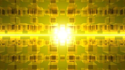 Yellow cube CG動画
