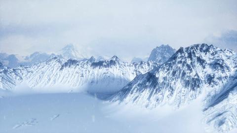 Snowy Scene Fly Through Image