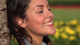 Happy Teen Girl Footage
