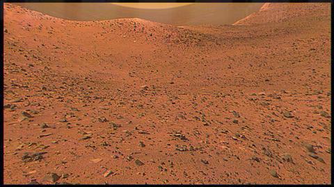 Surface of Mars Through a Rover Lens Archivo