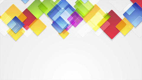 Colorful abstract squares geometric video animation Animation