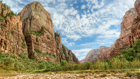 Zion Canyon HDR Timelapse/Hyperlapse - Valley View E Live Action