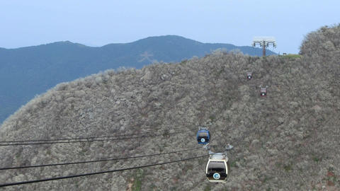 cableway against mountain landscape Footage