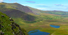 The Conor Pass Dingle, County Kerry, Ireland Footage