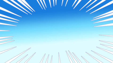 Manga concentrated linework CG動画