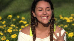 Happy Joyful Female Teenager Footage